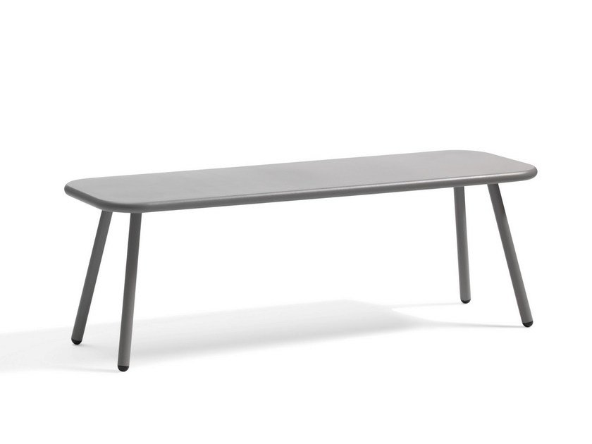 Low Low folding steel garden side table KAFFE | Rectangular coffee table - Blå Station