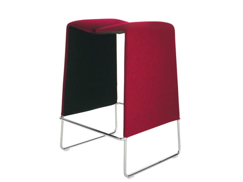 Sled base high fabric stool LAZY '05 | Stool - B&B Italia