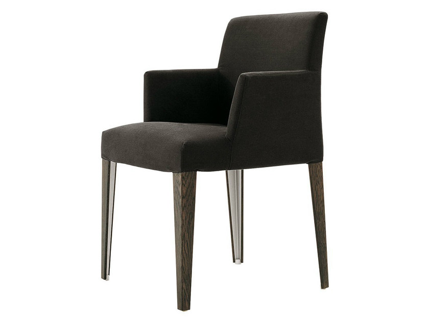 Upholstered fabric chair with armrests MELANDRA | Chair with armrests - B&B Italia