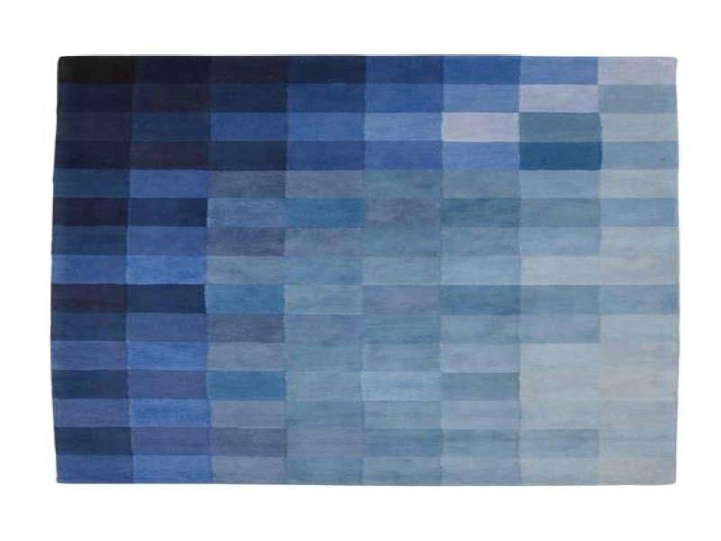 Rectangular wool rug with geometric shapes CHART - ROSET ITALIA