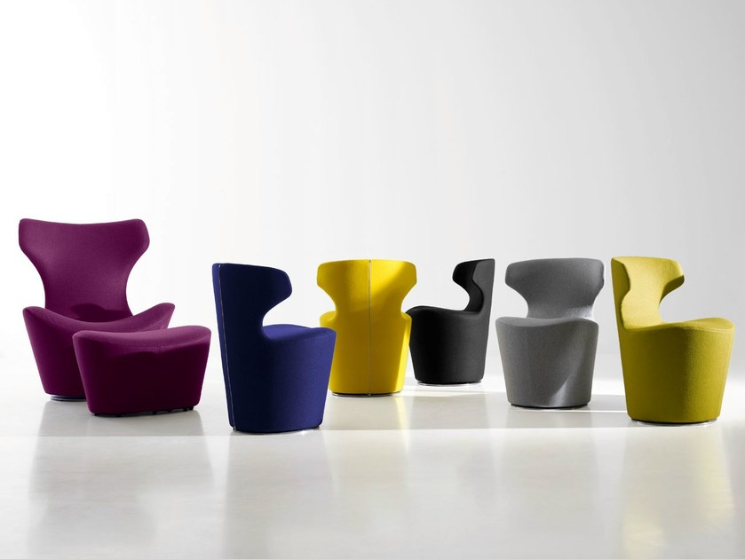Swivel fabric chair MINI PAPILIO - B&B Italia
