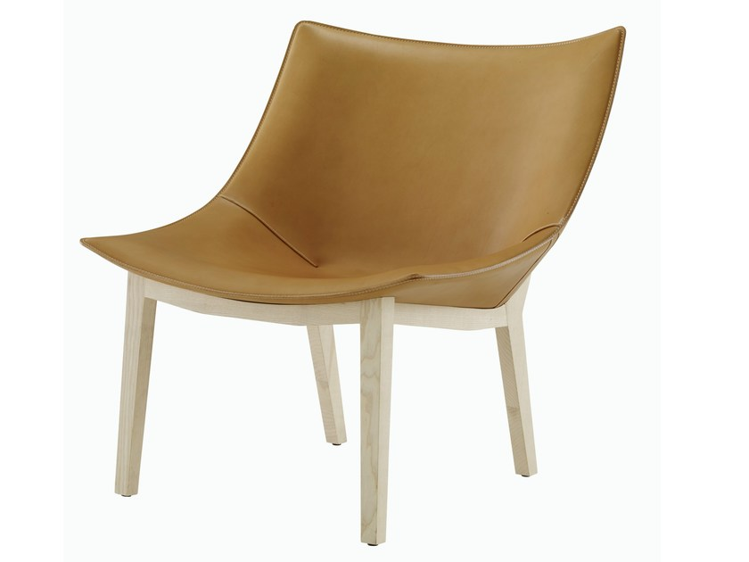 Tanned leather armchair MADRAGUE - ROSET ITALIA