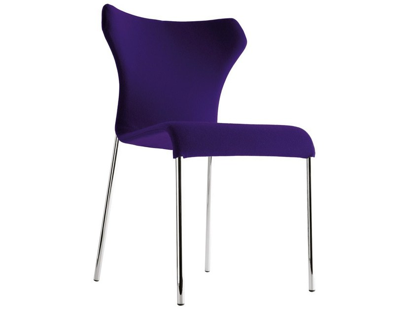 Upholstered fabric chair with removable cover PAPILIO - B&B Italia