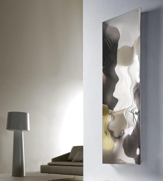 Glossy steel decorative radiator BLOW VT - CORDIVARI