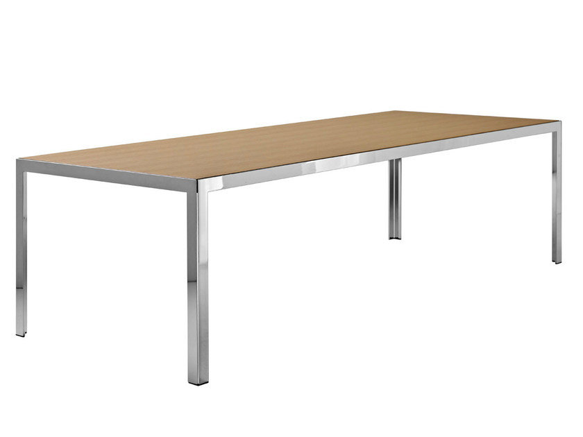 Rectangular steel and wood table THE TABLE | Table - B&B Italia