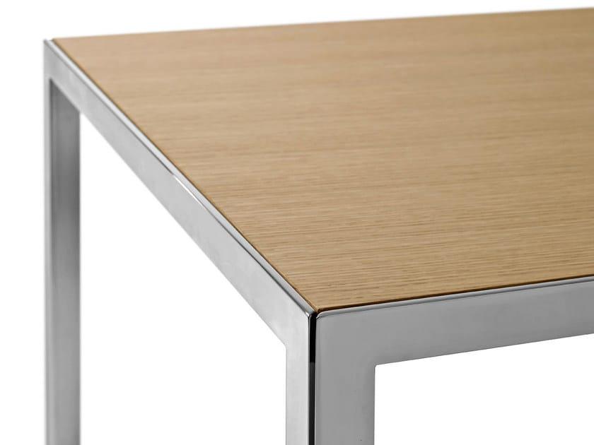 Tavolo rettangolare in acciaio e legno the table tavolo for Tavolo legno acciaio