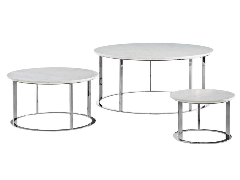 Round marble coffee table MERA - B&B Italia