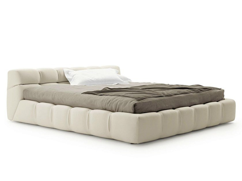 Upholstered fabric storage bed TUFTY BED by B&B Italia