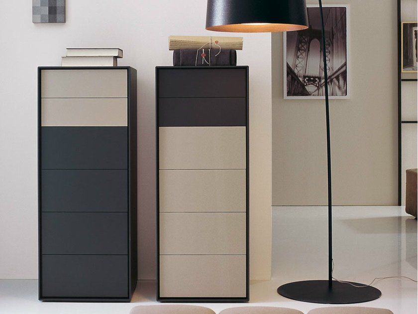 Free standing wooden chest of drawers DADO | Chest of drawers - B&B Italia