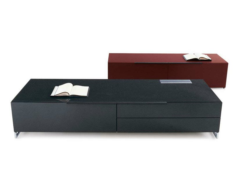 Low TV cabinet with drawers ATHOS | Low TV cabinet - B&B Italia