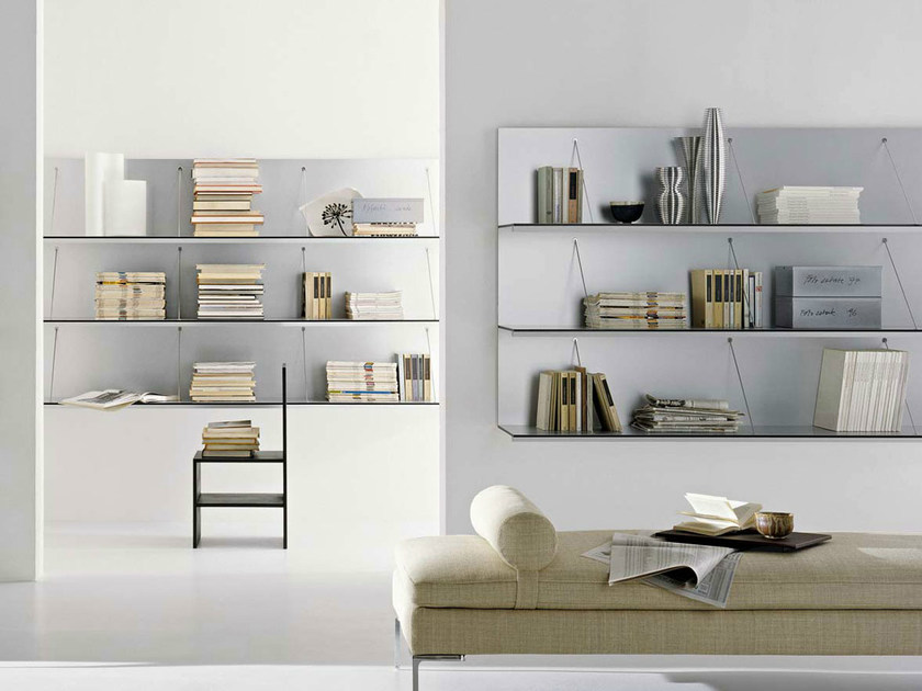 Wall-mounted sectional floating bookcase PAB | Bookcase - B&B Italia