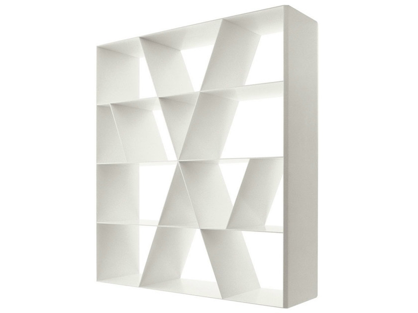 Open double-sided Corian® bookcase SHELF X by B&B Italia