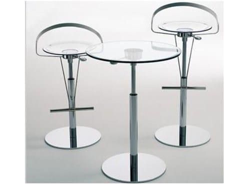 Height-adjustable glass table CAYMAN-BISTROT - ITALY DREAM DESIGN - Kallisté