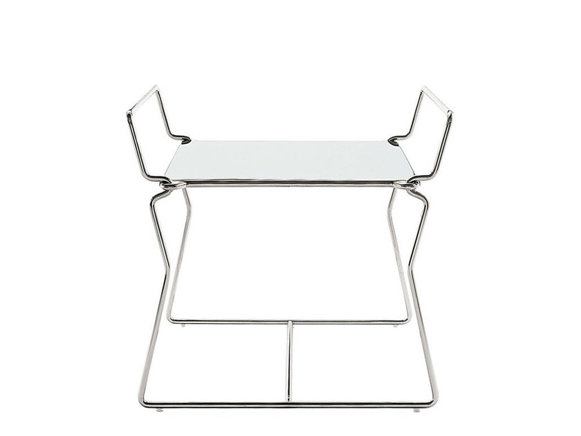 Square steel coffee table PYLLON | Coffee table - B&B Italia