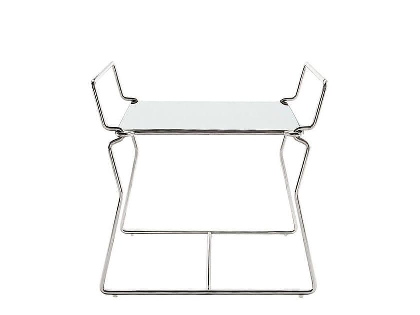 Square steel coffee table PYLLON | Coffee table by B&B Italia