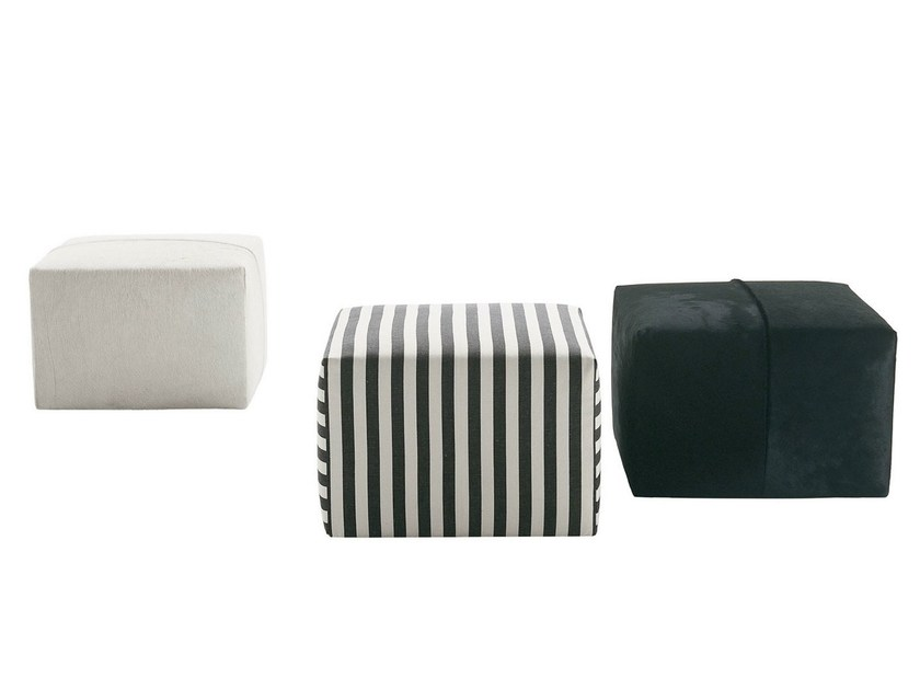 Upholstered fabric pouf P60 by B&B Italia