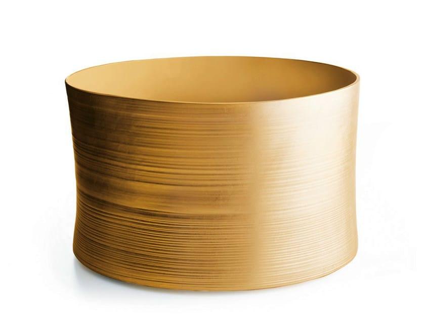 Ceramic pouf / coffee table GOLD | Coffee table - B&B Italia