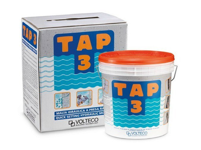 Cement-based waterproofing product TAP 3 by Volteco