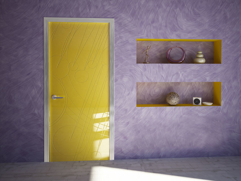 Hinged lacquered door SIMPLE - Bertolotto Porte