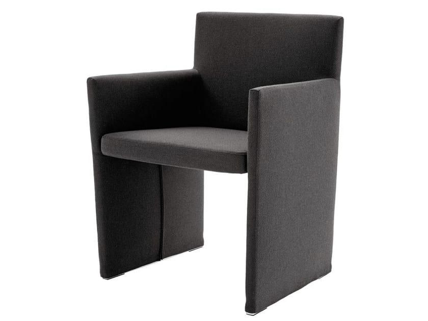 Fabric armchair with armrests POSA | Fabric armchair - B&B Italia Project, a brand of B&B Italia Spa