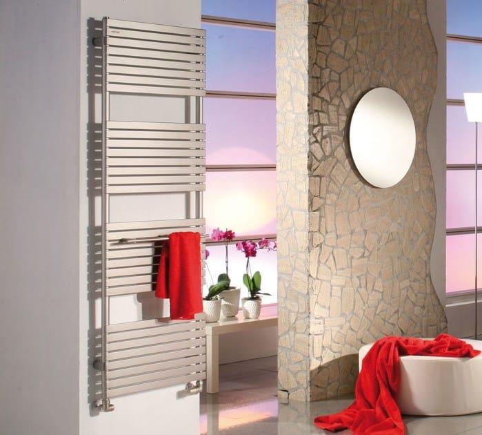 Electric wall-mounted decorative radiator STEFANIA | Brushed-finish towel warmer - CORDIVARI