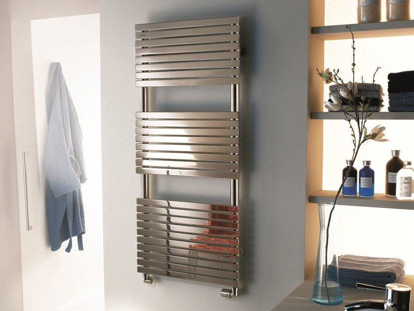 Electric wall-mounted decorative radiator STEFANIA | Glossy steel decorative radiator - CORDIVARI