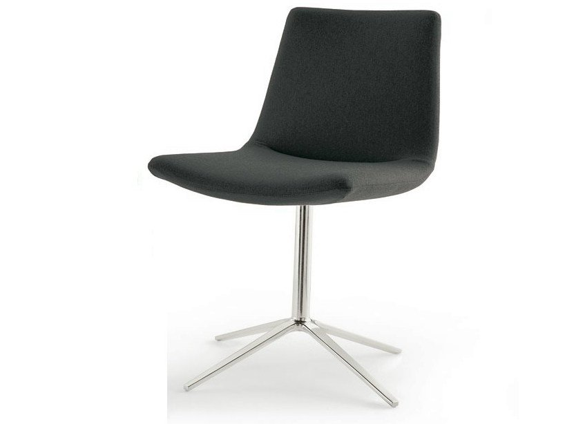 Swivel upholstered fabric chair with 4-spoke base COSMOS | Swivel chair by B&B Italia Project