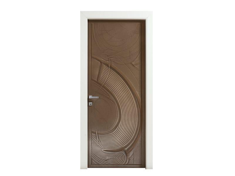 Porta a battente con decorazioni in sabbia casa zen bertolotto porte for Porte zen fiber
