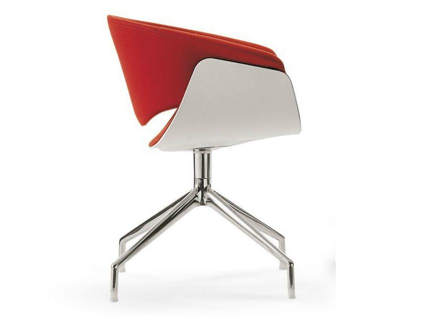 Swivel trestle-based fabric chair SINA | Chair - B&B Italia Project, a brand of B&B Italia Spa