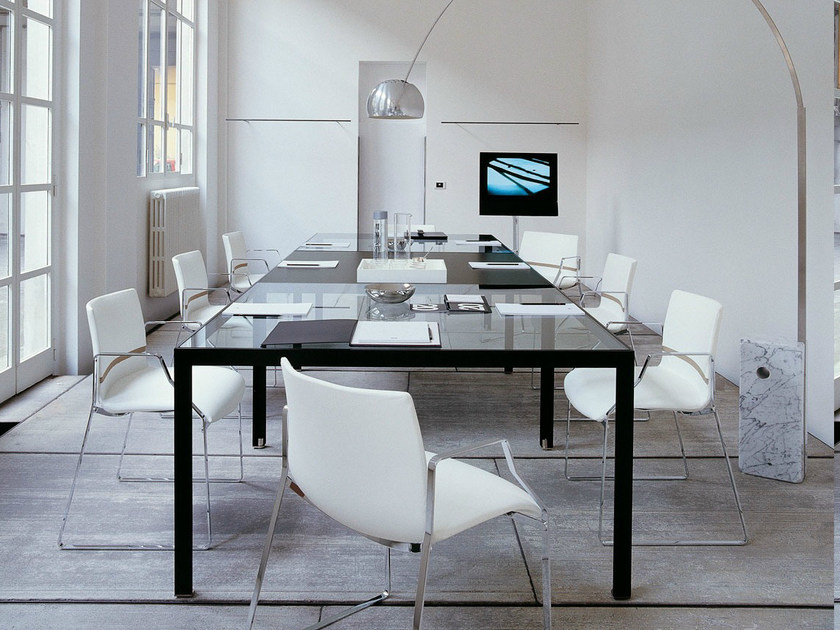 Modular glass meeting table PROGETTO 1 | Meeting table - B&B Italia Project, a brand of B&B Italia Spa