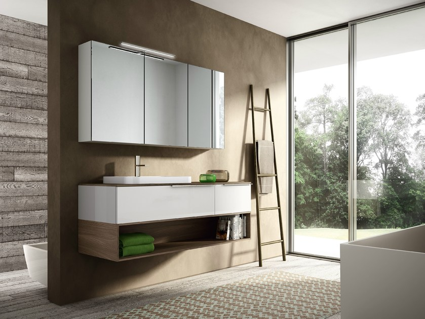 Vanity unit with cabinets MY TIME 06 - IdeaGroup