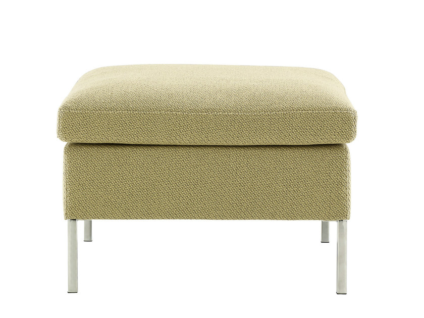 Upholstered fabric pouf HUDSON | Pouf - ROSET ITALIA