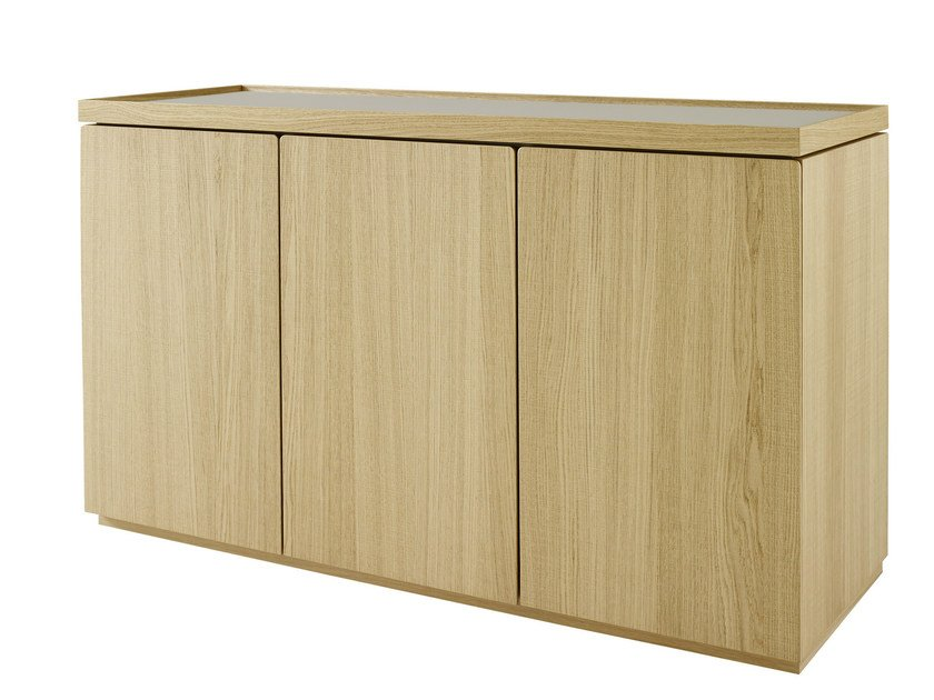 Oak sideboard with doors ESTAMPE | Oak sideboard - ROSET ITALIA
