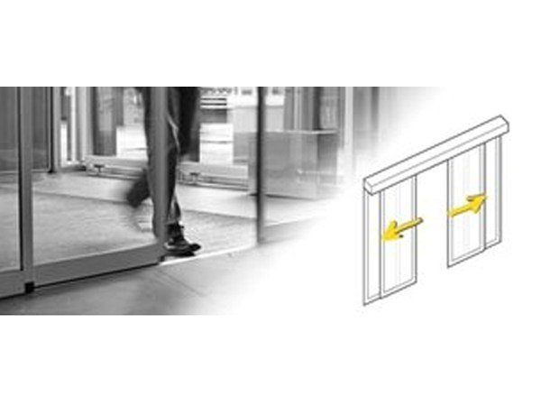 Automated sliding-door system Standard (SLX-M) by Gilgen Door Systems