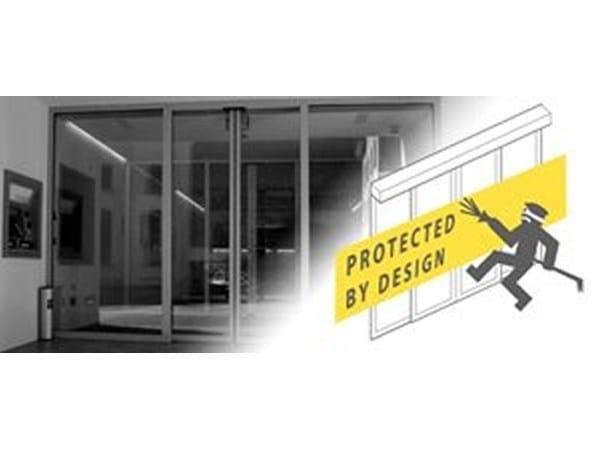 Automated burglar-resistant sliding door system Burglar-Resistant (SLX-M RC2-RC3) - Gilgen Door Systems