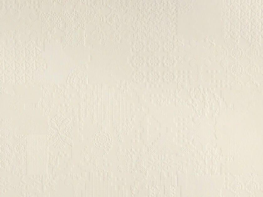 Indoor porcelain stoneware wall/floor tiles DECHIRER DECOR BIANCO - MUTINA