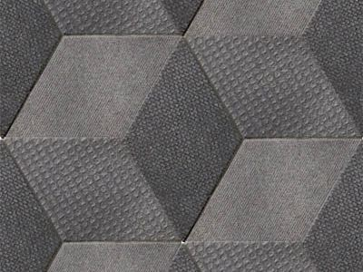 Indoor porcelain stoneware wall/floor tiles TEX BLACK by MUTINA