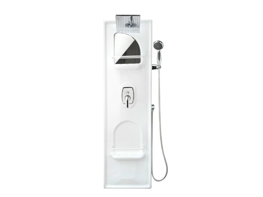 Wall-mounted shower panel Shower panel with diverter - Remail