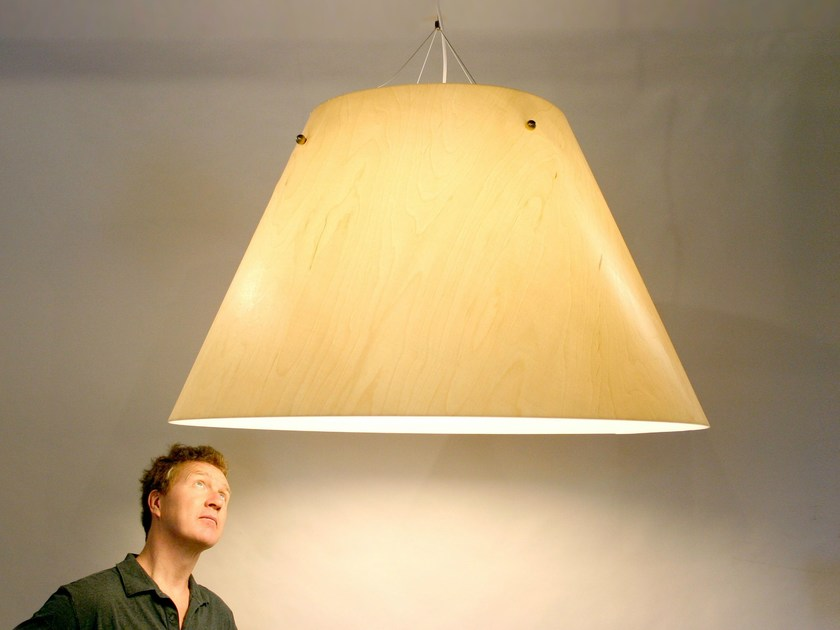 Wood veneer pendant lamp STELLAR - Lampa