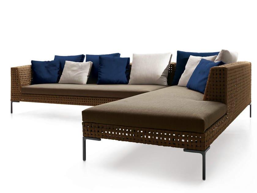 Charles outdoor sof de esquina by b b italia outdoor a for Sofa exterior esquina