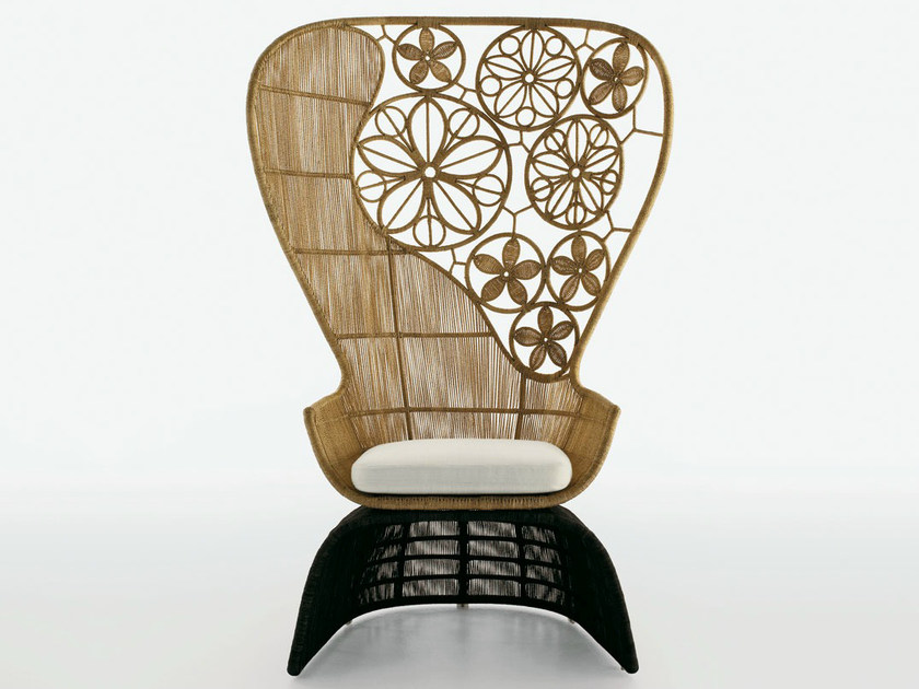 High-back polyethylene garden armchair CRINOLINE | High-back garden armchair - B&B Italia Outdoor, a brand of B&B Italia Spa