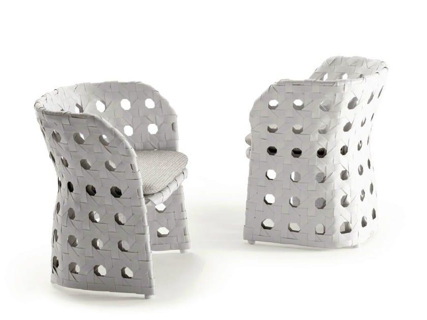 Polyethylene garden chair with armrests CANASTA | Chair - B&B Italia Outdoor, a brand of B&B Italia Spa