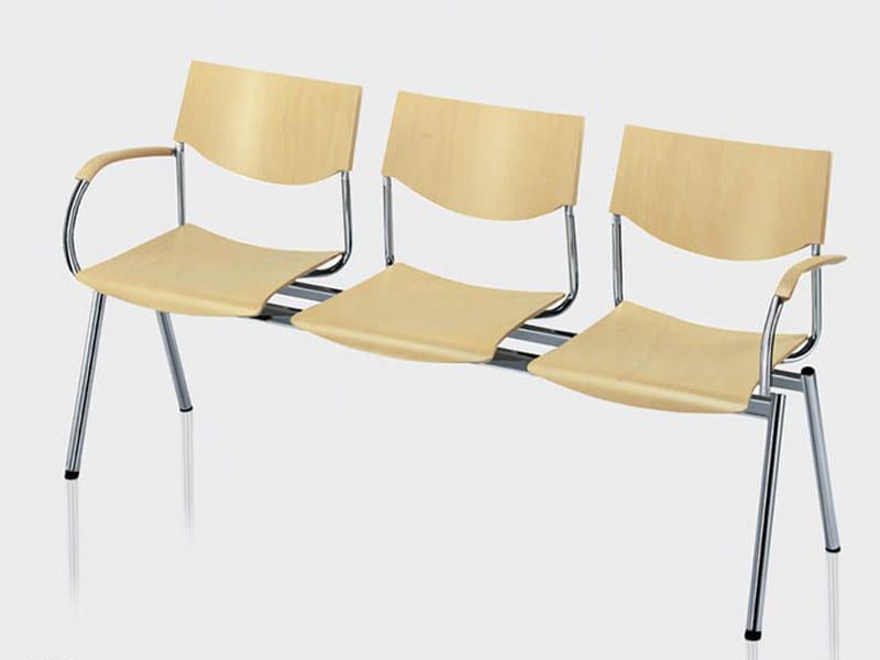 Wooden beam seating JUMP | Beam seating - Brunner