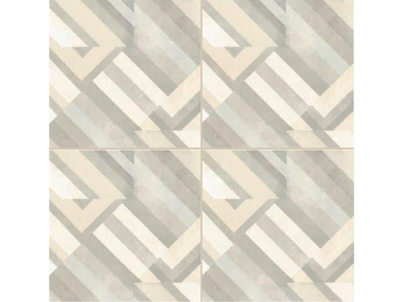 Glazed stoneware wall/floor tiles AZULEJ BIANCO PRATA by MUTINA