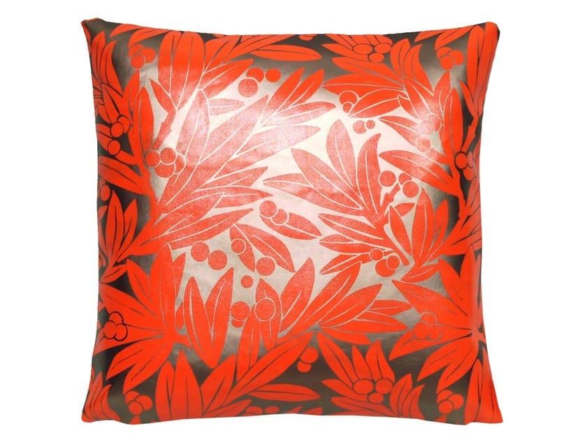 Square imitation leather cushion SANTA FE - LELIEVRE