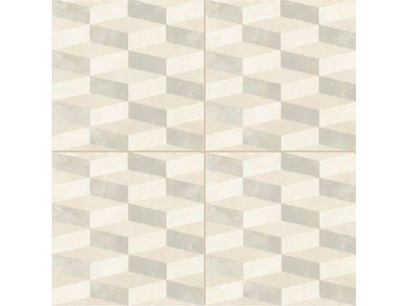 Glazed stoneware wall/floor tiles AZULEJ BIANCO CUBO - MUTINA