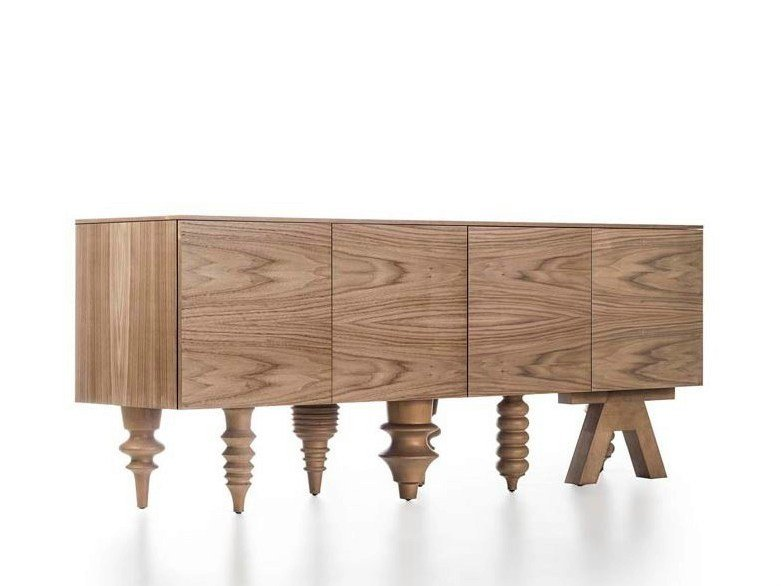 Walnut sideboard MULTILEG | Walnut sideboard - BD Barcelona Design