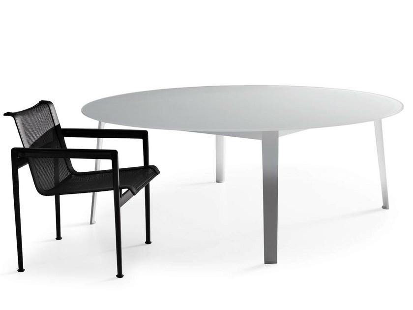 Round etched glass garden table GELSO | Table - B&B Italia Outdoor, a brand of B&B Italia Spa