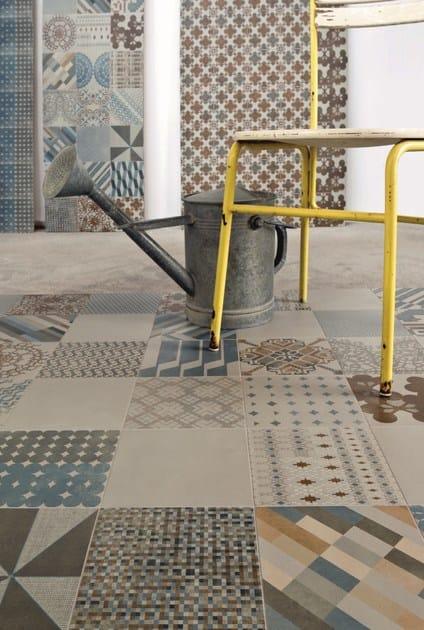 Pavimento/rivestimento in gres porcellanato smaltato AZULEJ GRIGIO ...