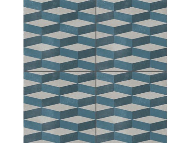 Glazed stoneware wall/floor tiles AZULEJ GRIGIO CUBE - MUTINA